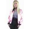 Pink Ladies Satin Jacket Plus Adult